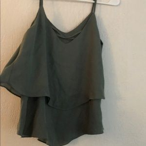 Army Green Strappy Tank
